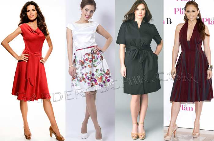 как выбрать платье по типу фигуры груша