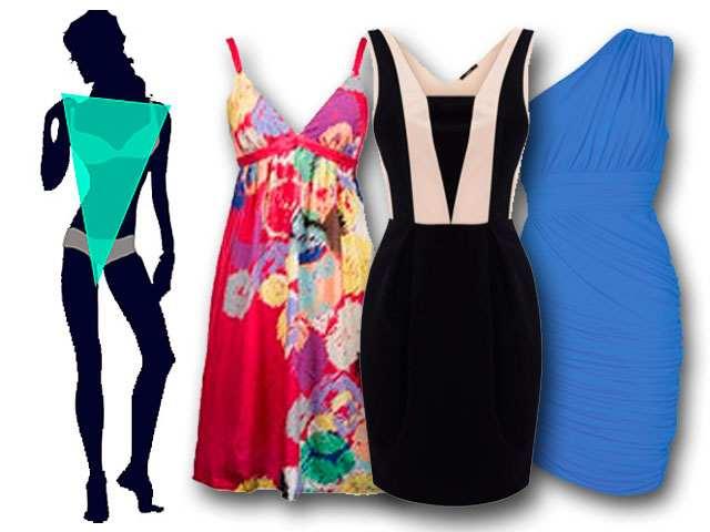 как выбрать платье по фигуре треугольник