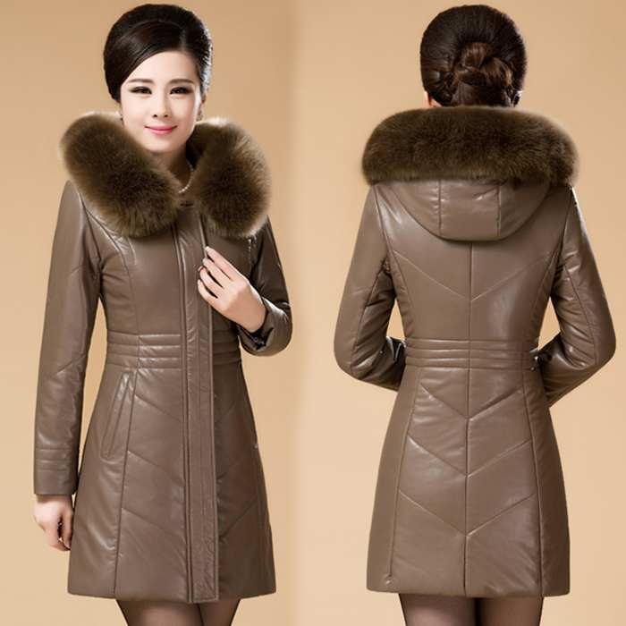 Мода 2016: кожаное пальто