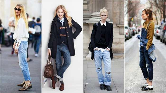 Подвернутые джинсы и деловой стиль