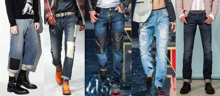 Как модно подвернуть мужские джинсы