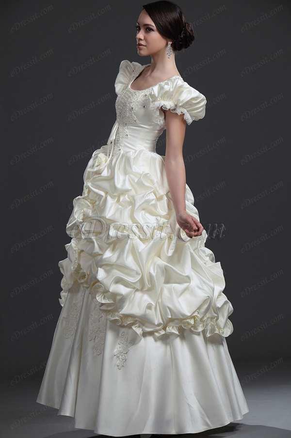 Свадебное платье и рукава - фонарики