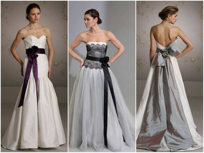 Свадебное платье с поясом