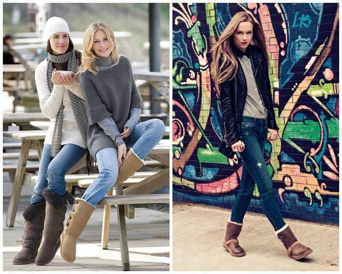 С чем носить скинни зимой