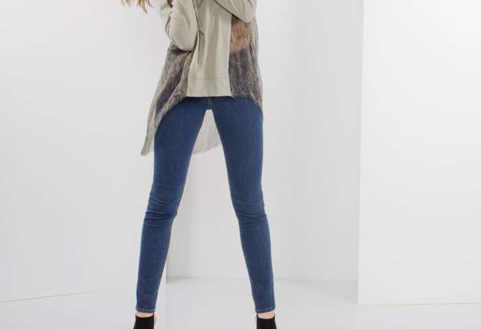 Туника и джинсы скинни